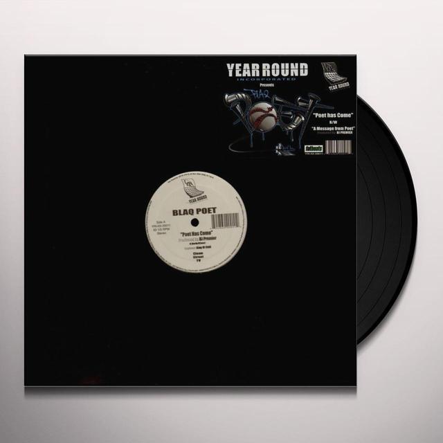 Blaq Poet POET HAS COME Vinyl Record