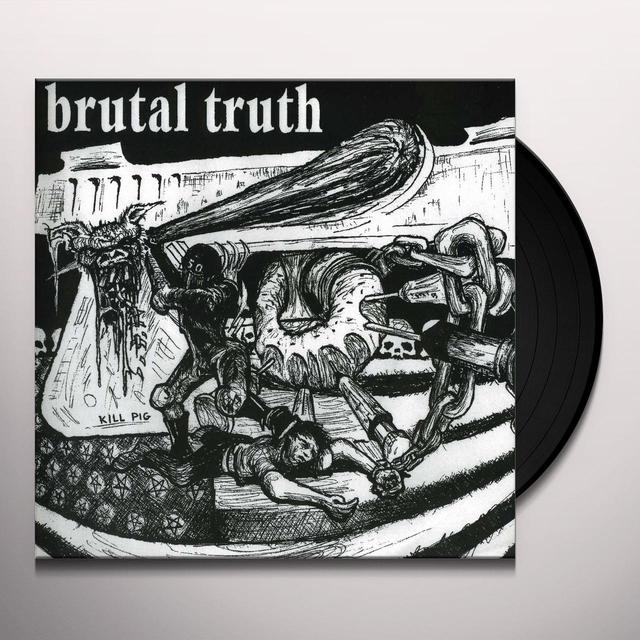 Spazz Brutal Truth SPLIT Vinyl Record