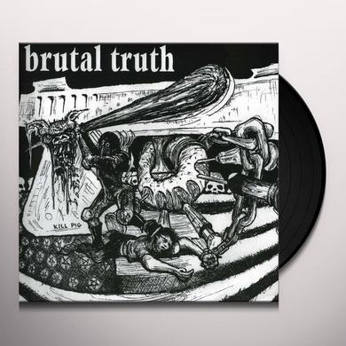 Spazz Brutal Truth SPLIT Vinyl Record