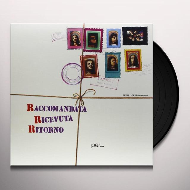 Raccomandata Ricevuta Ritorno PER UN MONDO DI CRISTALLO Vinyl Record
