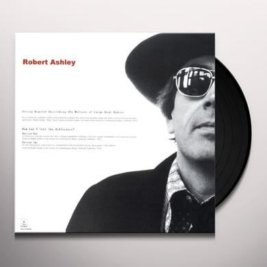 Robert Ashley STRING QUARTET DESCRIBING THE MOTIONS OF LARGE Vinyl Record