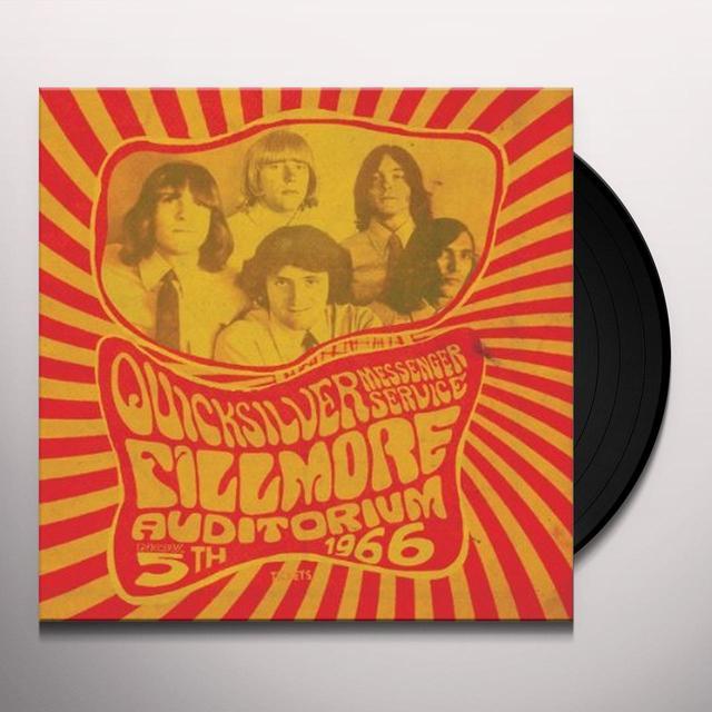 Quicksilver Messenger Service FILLMORE AUDITORIUM - NOVEMBER 5 1966 Vinyl Record