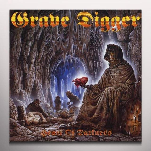 Grave Digger HEART OF DARKNESS Vinyl Record - Colored Vinyl, Limited Edition, 180 Gram Pressing