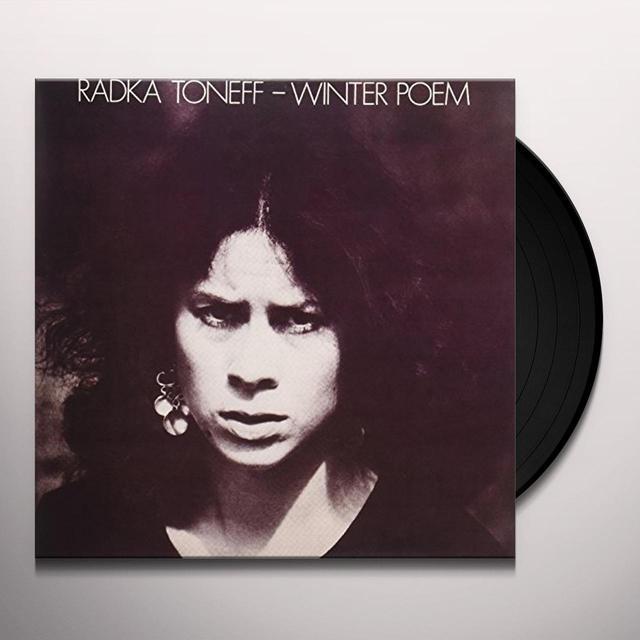 Radka Toneff WINTER POEM Vinyl Record - Holland Import