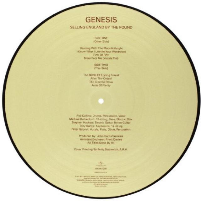 Genesis SELLING ENGLAND BY THE POUND Vinyl Record - UK Release