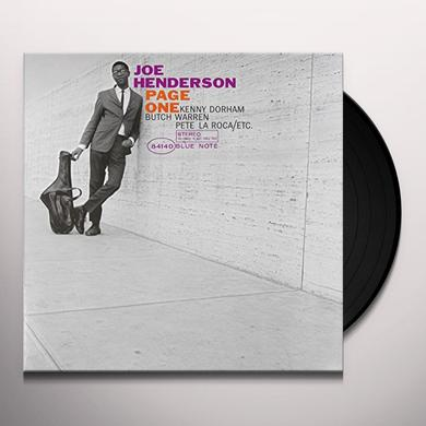 Joe Henderson PAGE ONE Vinyl Record