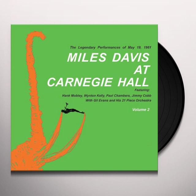MILES DAVIS AT CARNEGIE HALL 2 Vinyl Record - Limited Edition