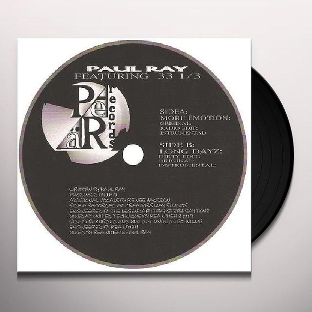 Paul Ray & 33 1 3 Vinyl Record