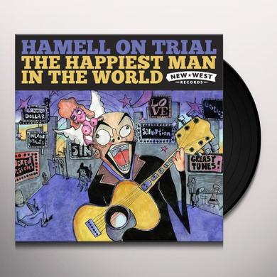 Hamell On Trial HAPPIEST MAN IN THE WORLD Vinyl Record - Digital Download Included