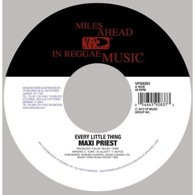 Maxi Priest EVERY LITTLE THING Vinyl Record