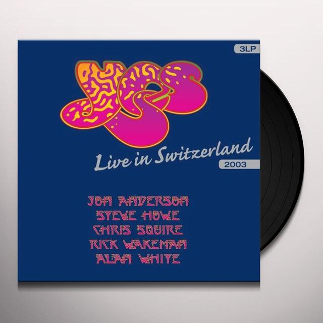 Yes LIVE IN SWITZERLAND Vinyl Record - Holland Import