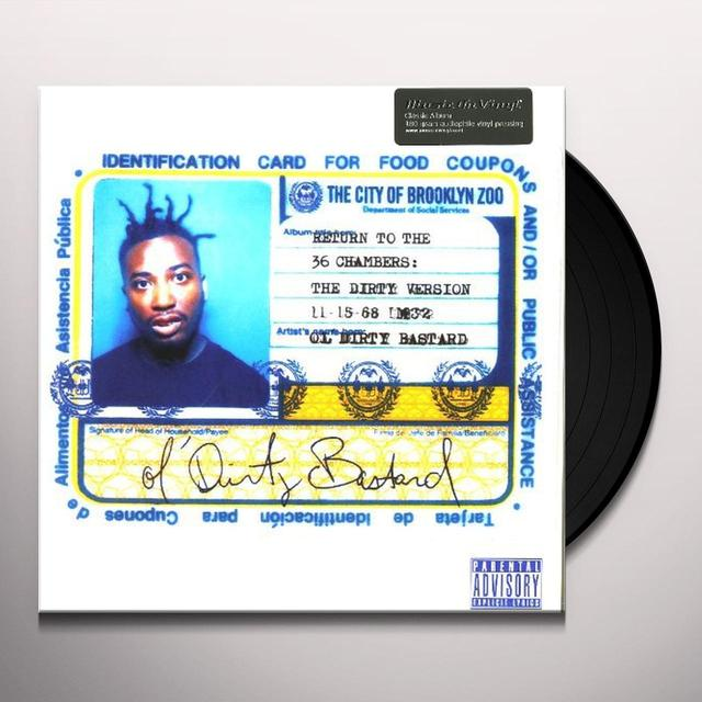 Ol Dirty Bastard RETURN TO THE 36 CHAMBERS (DIRTY VERSION) Vinyl Record - Holland Import