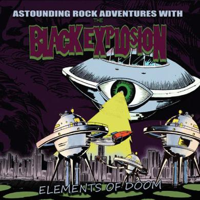 Black Explosion ELEMENTS OF DOOM Vinyl Record