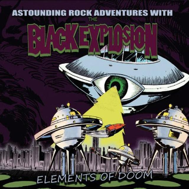Black Explosion ELEMENTS OF DOOM Vinyl Record