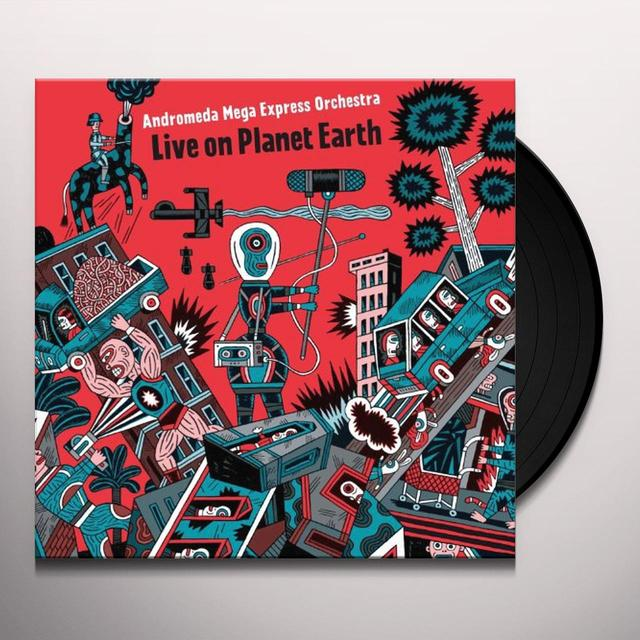 Andromeda Mega Express Orchestra LIVE ON PLANET EARTH Vinyl Record