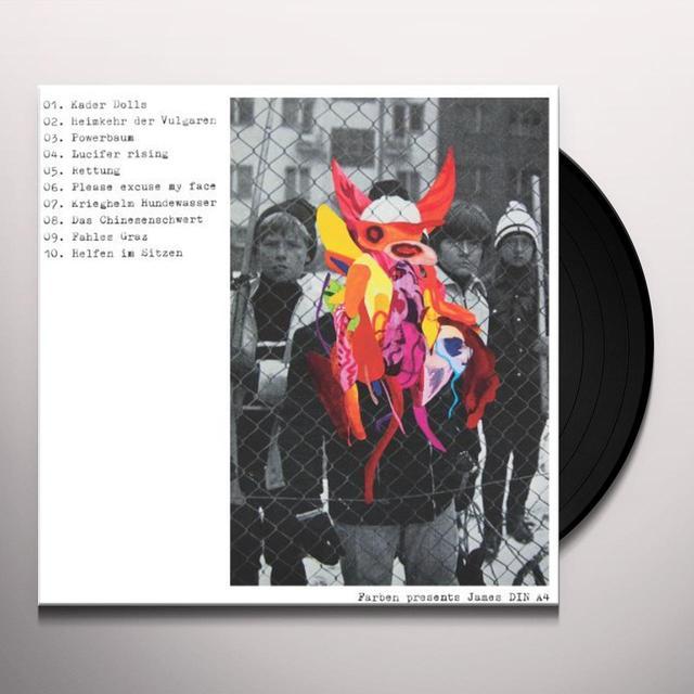 Farben & James Din A4 FARBEN PRESENTS JAMES DIN A4 Vinyl Record
