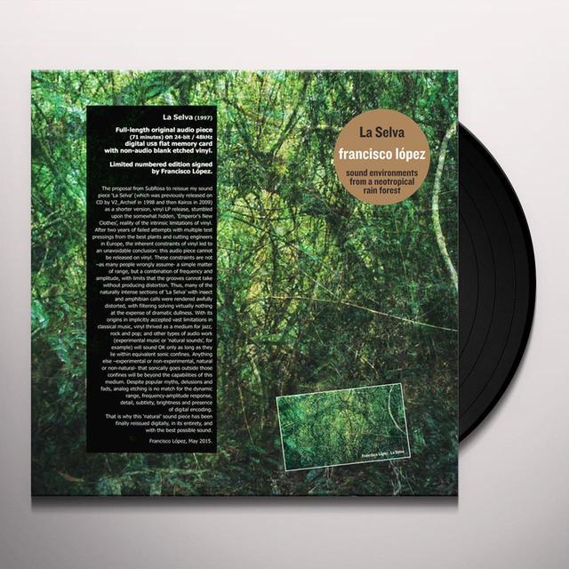 Francisco Lopez LA SELVA Vinyl Record