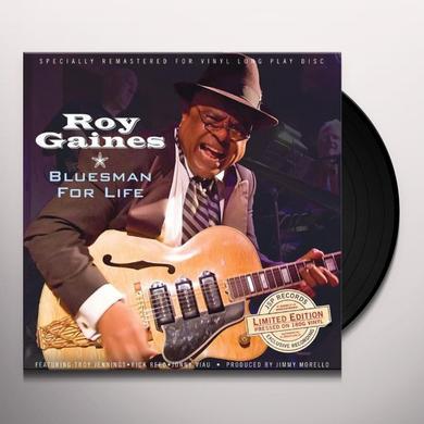 Roy Gaines BLUESMAN FOR LIFE Vinyl Record