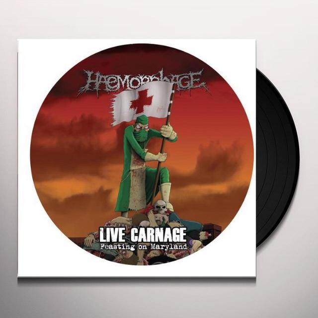 Haemorrhage LIVE CARNAGE FEASTING ON MARYLAND Vinyl Record
