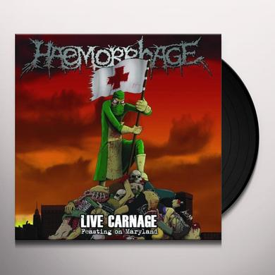 Haemorrhage LIVE CARNAGE FEASTING ON MARYLAND Vinyl Record
