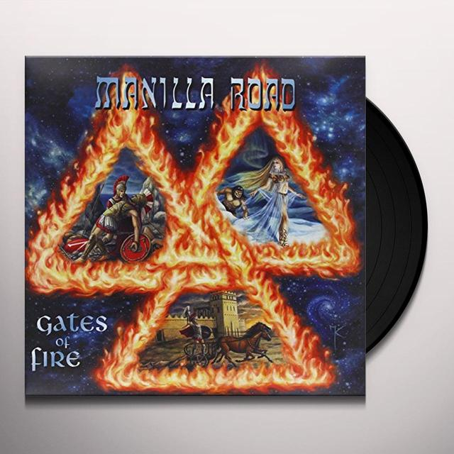 Manilla Road GATES OF FIRE Vinyl Record