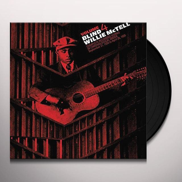 Willie Mctell COMPLETE RECORDED WORKS IN CHRONOLOGICAL ORDER 4 Vinyl Record