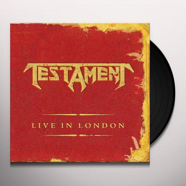Testament LIVE IN LONDON Vinyl Record - UK Import