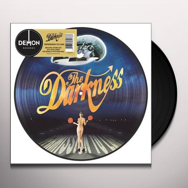 The Darkness PERMISSION TO LAND PICTURE DISC Vinyl Record - UK Import