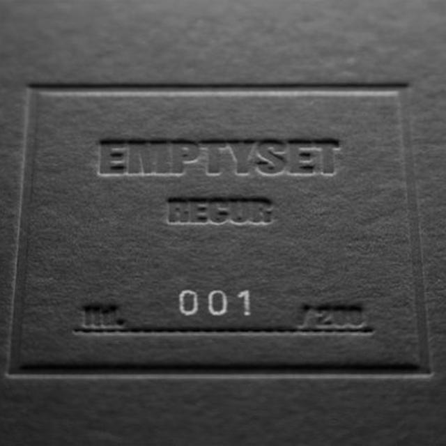 Emptyset RECUR (SPECIAL EDITION) Vinyl Record - w/CD, Special Edition