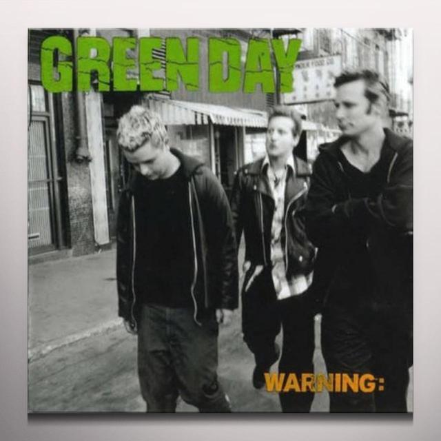 Green Day WARNING (COKE BOTTLE GREEN VINYL) Vinyl Record - Colored Vinyl