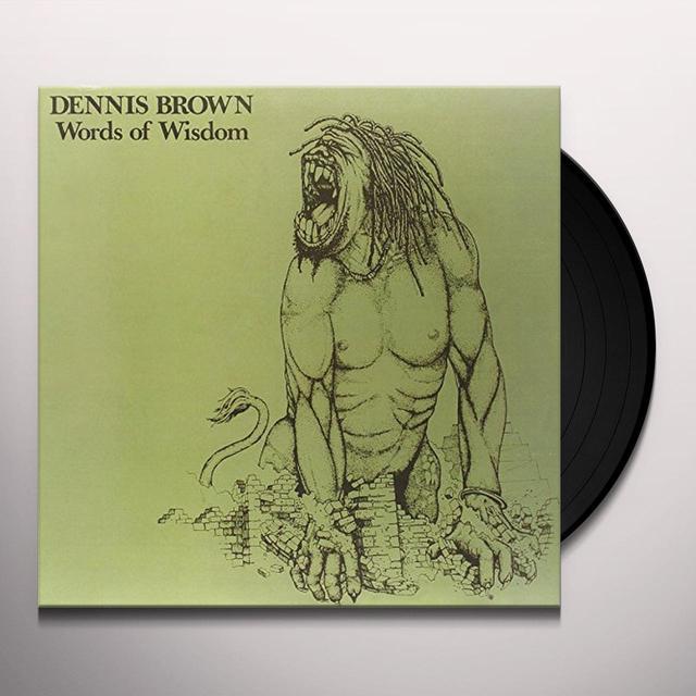 Dennis Brown WORDS OF WISDOM Vinyl Record