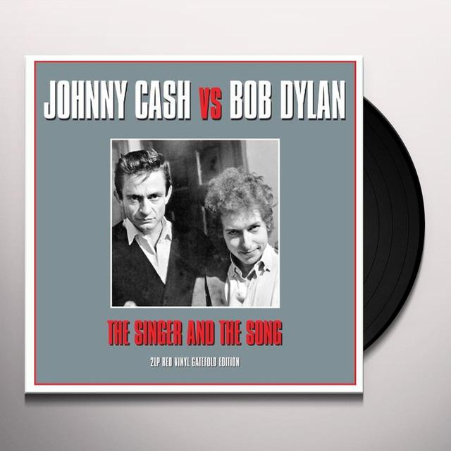 Johnny Cash & Bob Dylan SINGER & THE SONG Vinyl Record - UK Import
