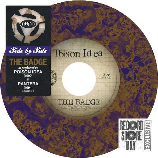 PANTERA & POISON IDEA SIDE BY SIDE: THE BADGE Vinyl Record - Colored Vinyl