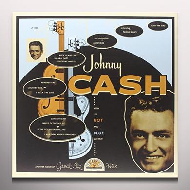 Johnny Cash WITH HIS HOT & BLUE GUITAR Vinyl Record - Colored Vinyl