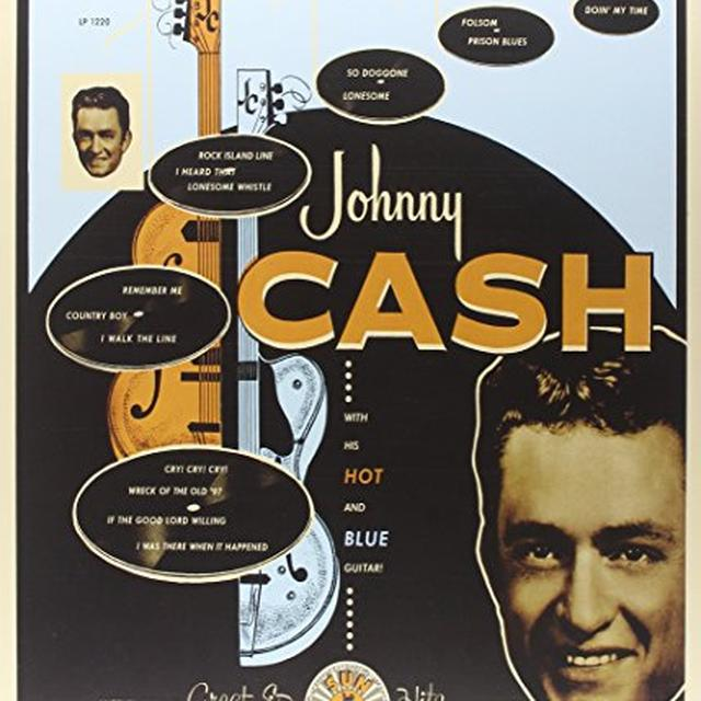 Johnny Cash WITH HIS HOT & BLUE GUITAR Vinyl Record
