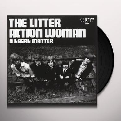 The Litter ACTION WOMAN / A LEGAL MATTER Vinyl Record
