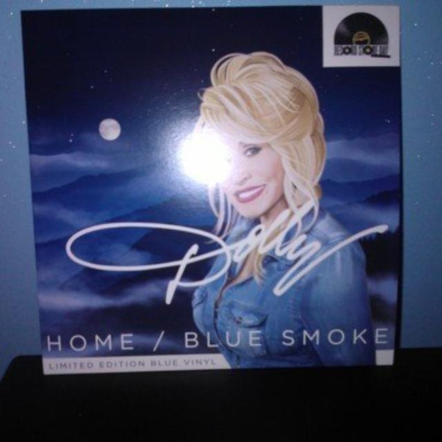 Dolly Parton HOME / BLUE SMOKE Vinyl Record
