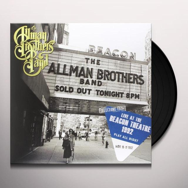 The Allman Brothers Band  SELECTIONS FROM (PLAY ALL NIGHT: LIVE AT BEACON) Vinyl Record