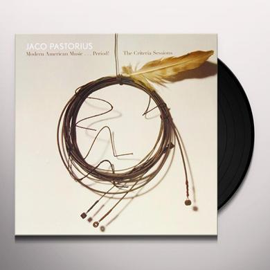Jaco Pastorius MODERN AMERICAN MUSIC: PERIOD CRITERIA SESSIONS Vinyl Record