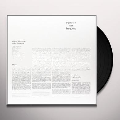 Marcus Schmickler & Julian Rohrhuber POLITIKEN DER FREQUENZ Vinyl Record