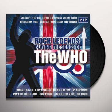 ROCK LEGENDS PLAYING THE SONGS OF THE WHO / VARIOU Vinyl Record