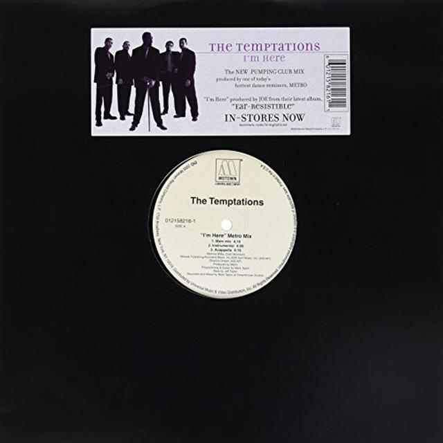 The Temptations I'M HERE (METRO MIX) Vinyl Record