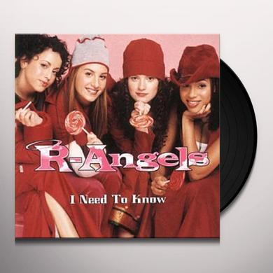 R Angels I NEED TO KNOW Vinyl Record - Canada Import