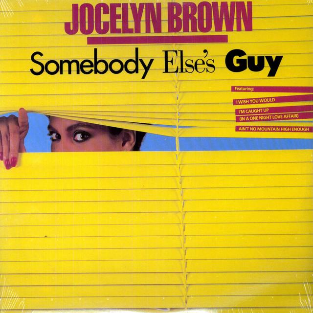 Jocelyn Brown SOMEBODY ELSE'S GUY Vinyl Record - Canada Import