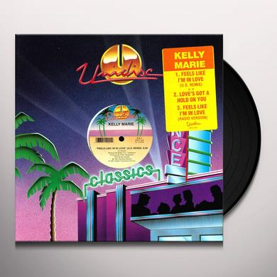 Kelly Marie FEELS LIKE IM IN LOV/LOVES GOT A HOLD ON Vinyl Record - Canada Import