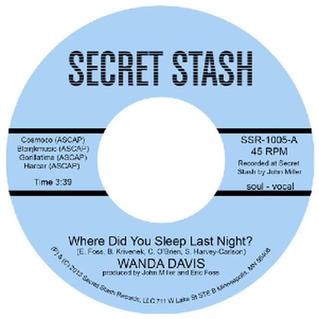 Wanda Davis WHERE DID YOU SLEEP LAST NIGHT / INSTRUMENTAL Vinyl Record