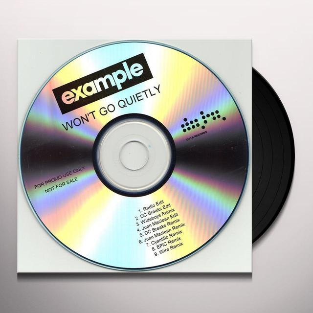 Example WON'T GO QUIETLY Vinyl Record - UK Import