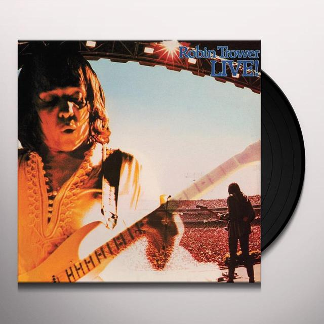 ROBIN TROWER LIVE Vinyl Record - Limited Edition, 180 Gram Pressing