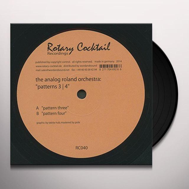 The Analog Roland Orchestra PATTERN THREE / PATTERN FOUR Vinyl Record