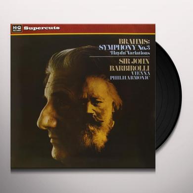 Brahms / Barbirolli SYM 3 Vinyl Record